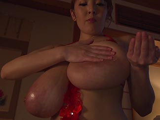 big tits oil massage