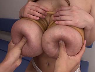 ropes around her huge tits