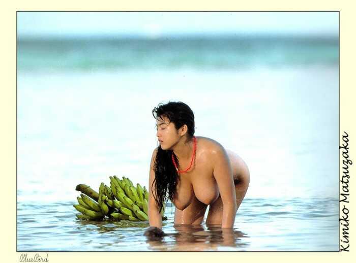 In bikini underwater